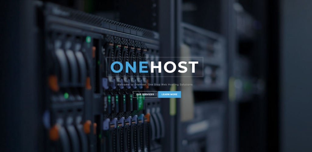 Onehost - Responsive Hosting Joomla Template