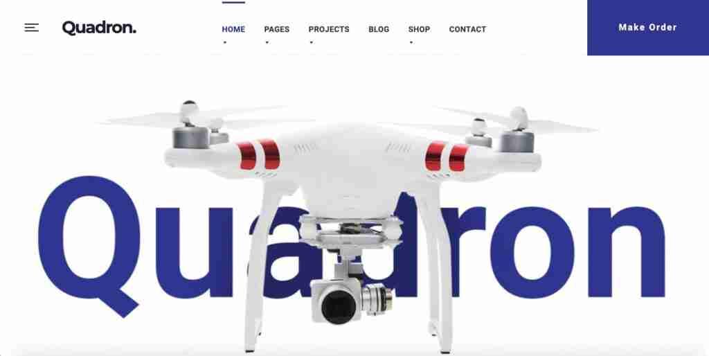 Quadron - UAV Drone WordPress Theme