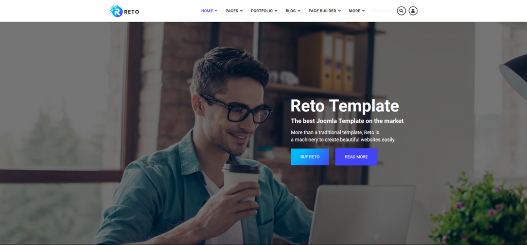 Reto - Responsive Multipurpose Joomla Template with Page Builder