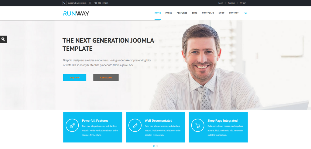 Runway - Responsive Multipurpose Joomla Template