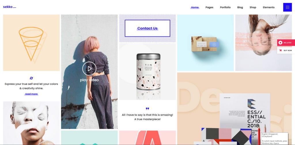 Sekko - Designer Portfolio Theme