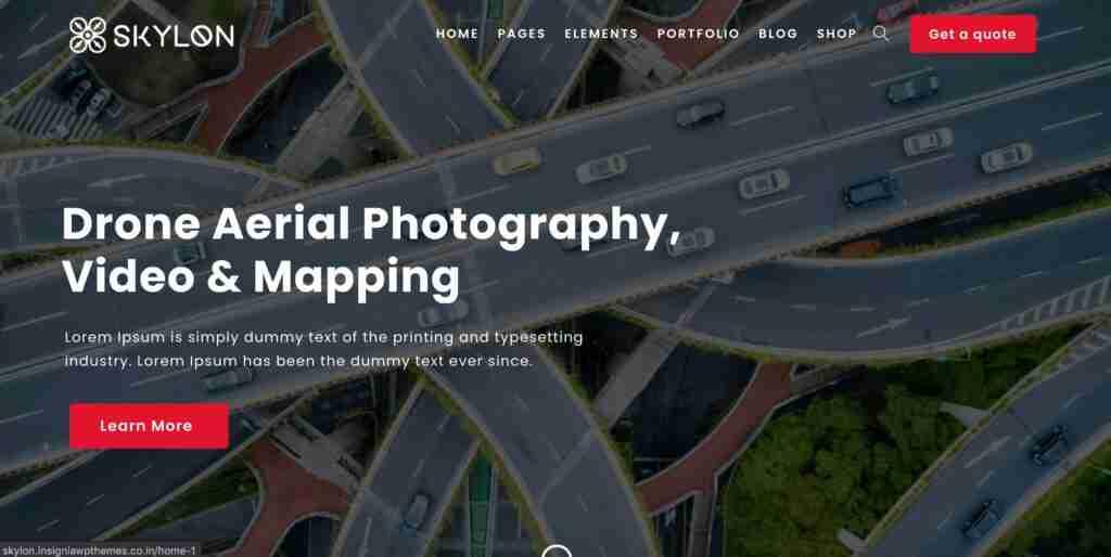 Skylon - Drone Aerial Photography & Videography WordPress Theme
