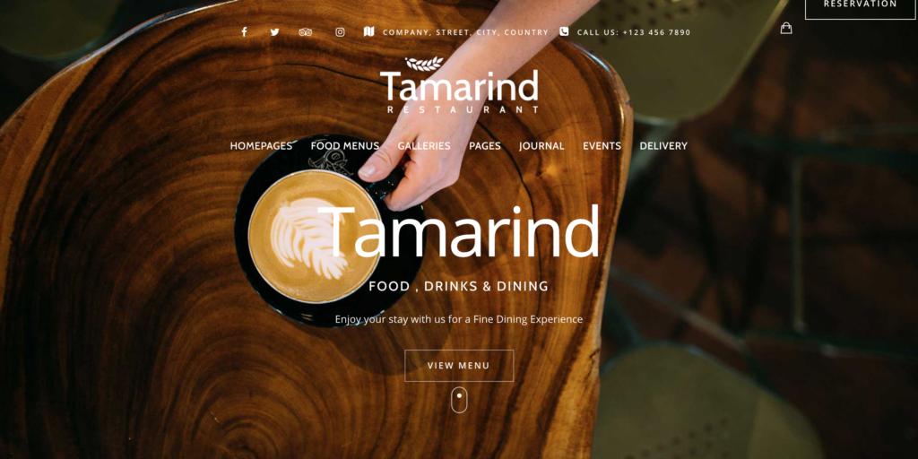 Tamarind Restaurant Theme for WordPress