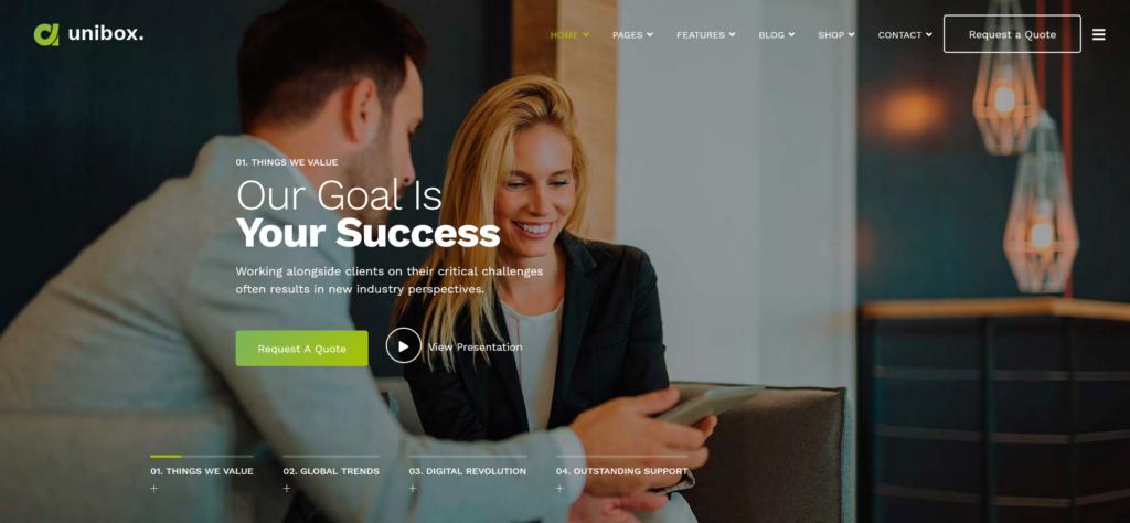 Unibox - Multipurpose Corporate Business Joomla Template