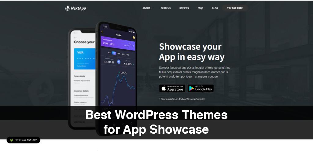 Best WordPress Themes for App Showcase