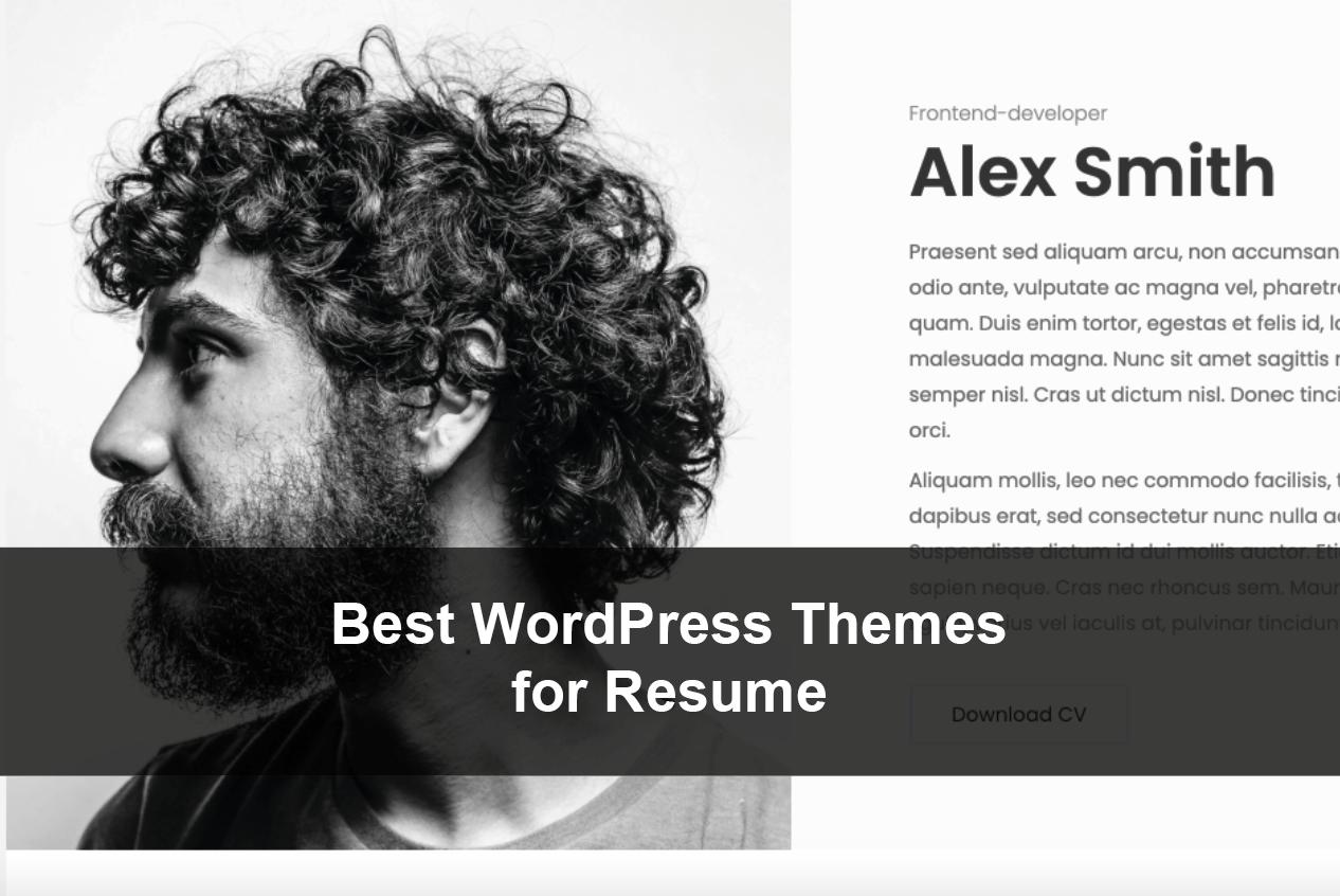 Best WordPress Themes for Resume