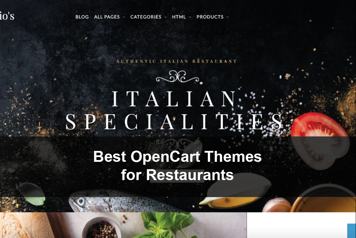 Best Restaurant Online Ordering Delivery OpenCart Themes