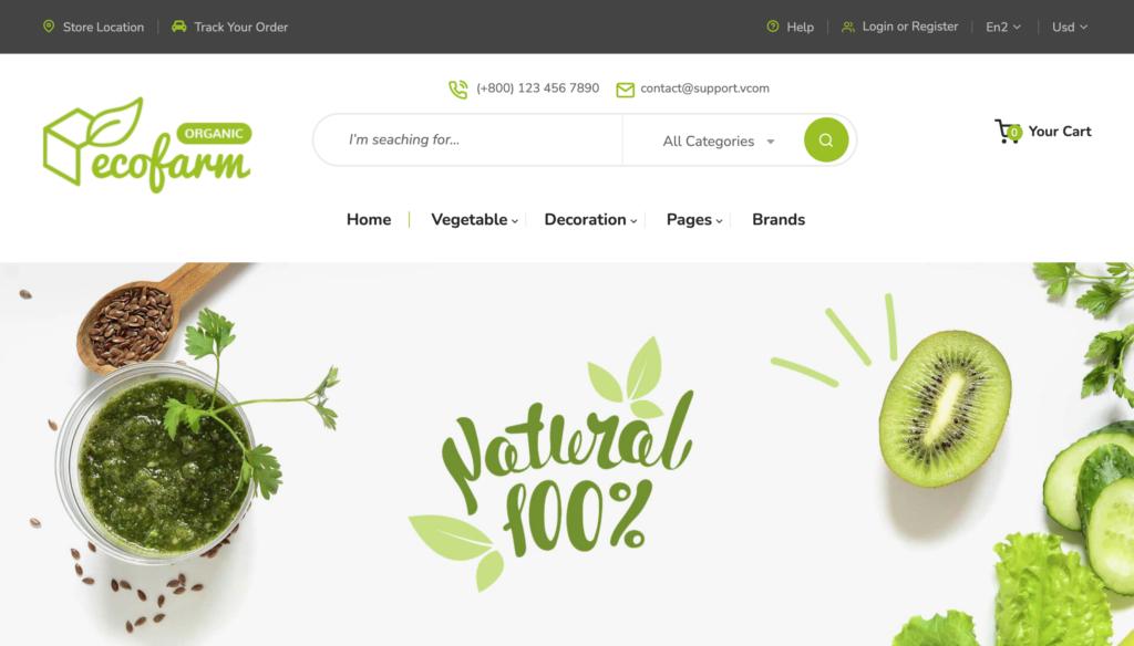 Ecofarm - Clean, Minimal Magento2 Theme