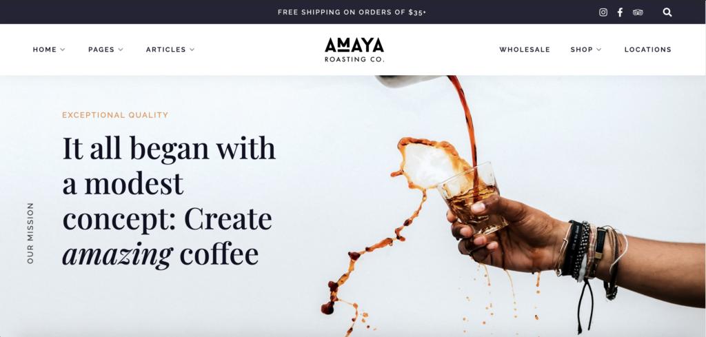 Amaya - Coffee Shop WordPress Theme