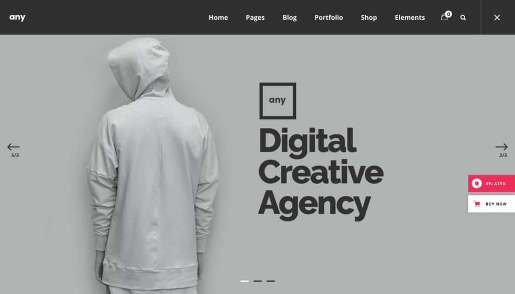 Any - Freelancer Portfolio Theme