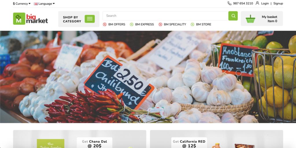 Bigmarket - Multipurpose Responsive Grocery | Drugs | Fashion Opencart 3.X Theme
