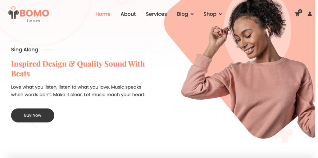 Bomo - One Product WordPress Theme