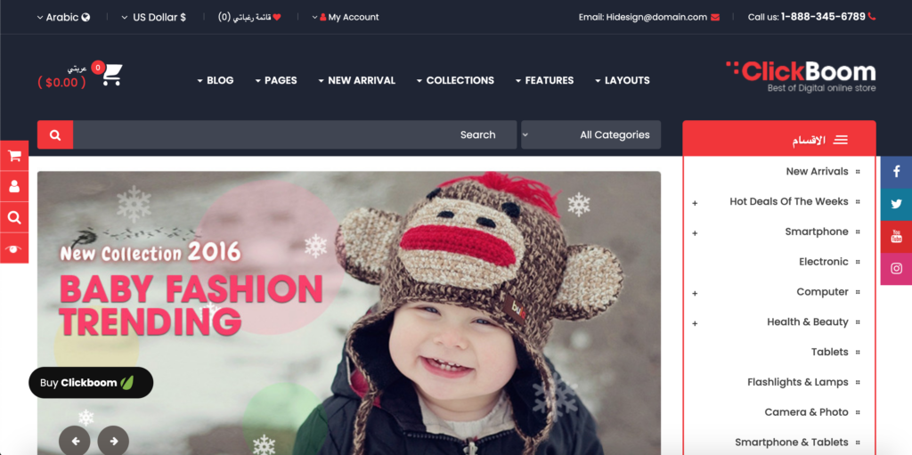 ClickBoom - Advanced OpenCart 3 & 2.3 Shopping Theme with Mobile-Specific Layouts