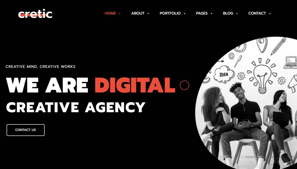 Cretic - Creative Agency WordPress Them