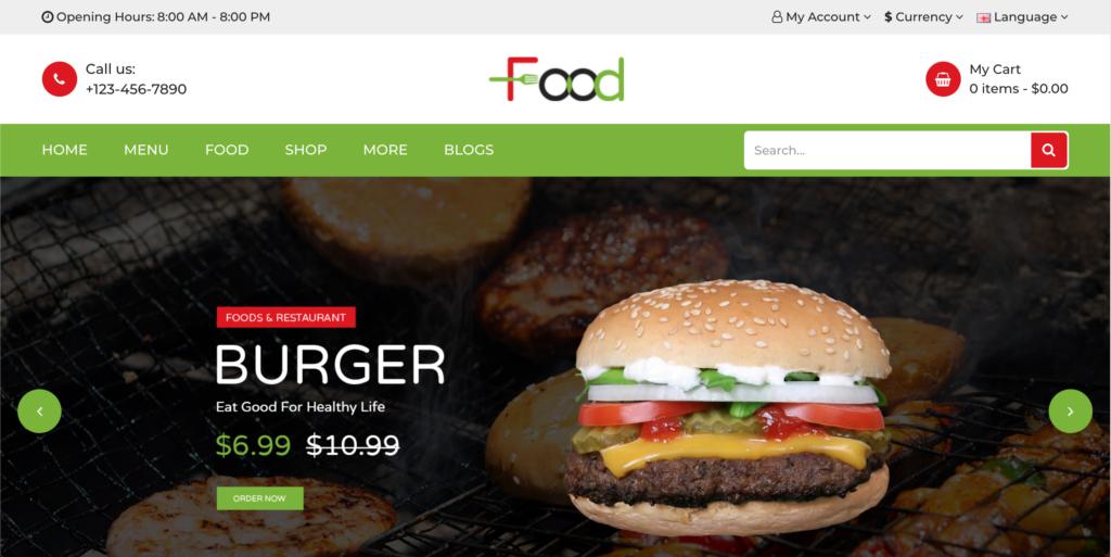 Food - Responsive OpenCart Theme