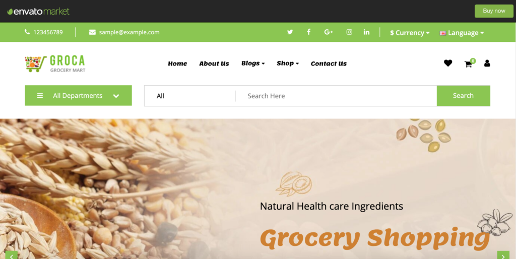 Groca - Responsive OpenCart Theme