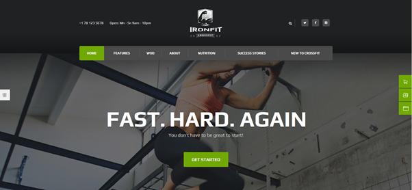 Ironfit - Fitness, Gym and Crossfit WordPress Theme