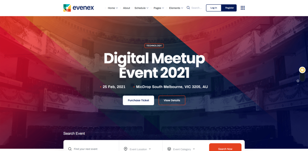 Evenex - Event Conference WordPress Theme