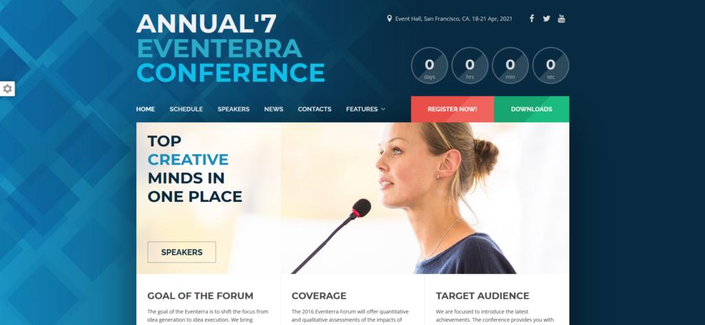 Eventerra - Event / Conference WordPress Theme