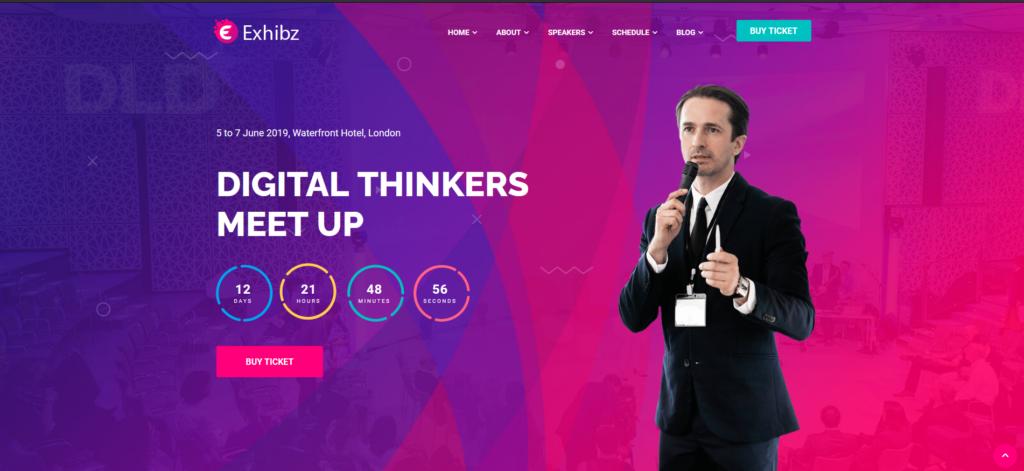 98Exhibz | Event Conference WordPress Theme