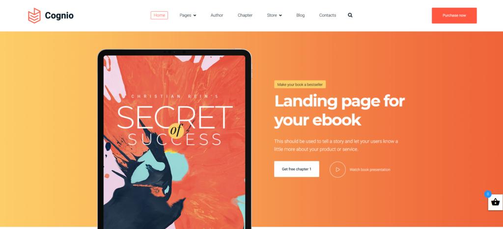 Cognio - Modern E-book Promo WordPress Theme