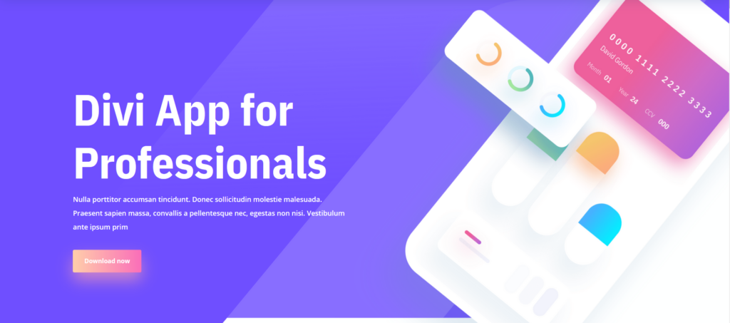 Divi – Theme and Visual Builder (with demos for App Showcase)