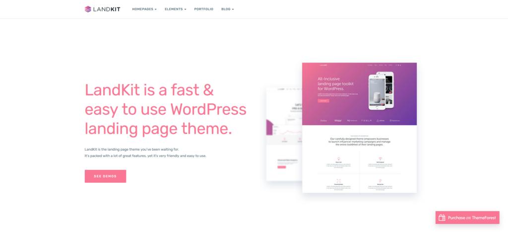 Landkit - WordPress App Landing Page Theme