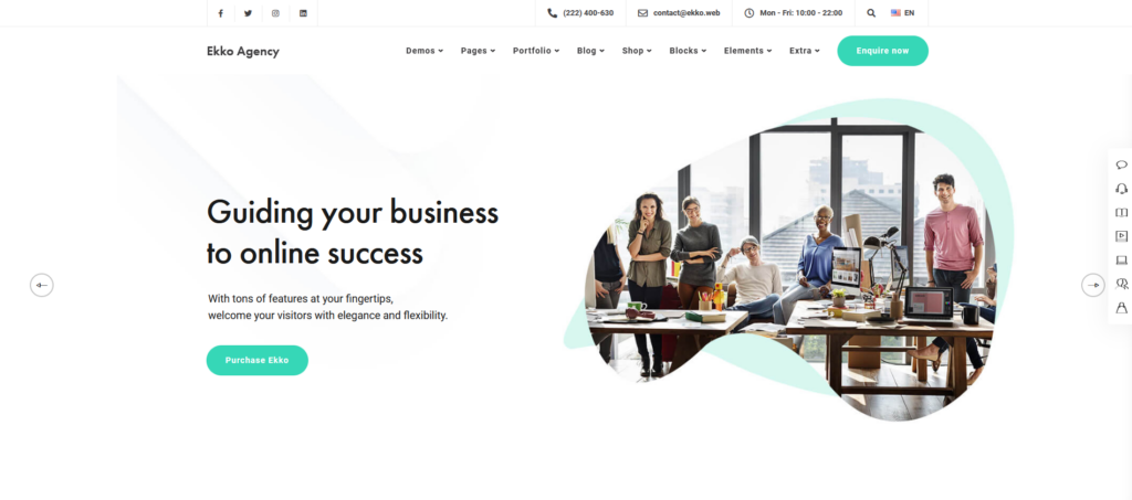 Ekko Artist – MultiPurpose WordPress Theme for Illustrators and Artists