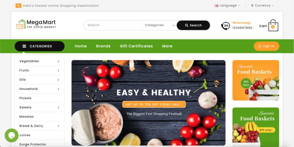 Mega Mart - OpenCart 3 Multi-Purpose Responsive Theme
