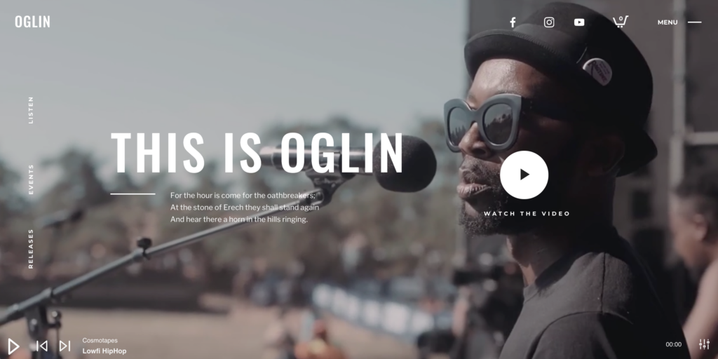 Oglin - Animated Music WordPress Theme with Ajax and Continous Playback
