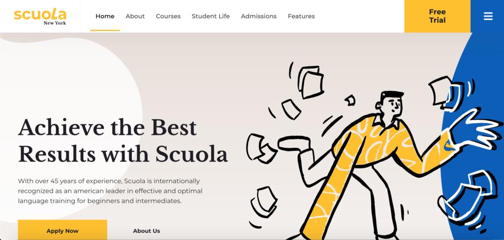 Scuola - Language School WordPress Elementor
