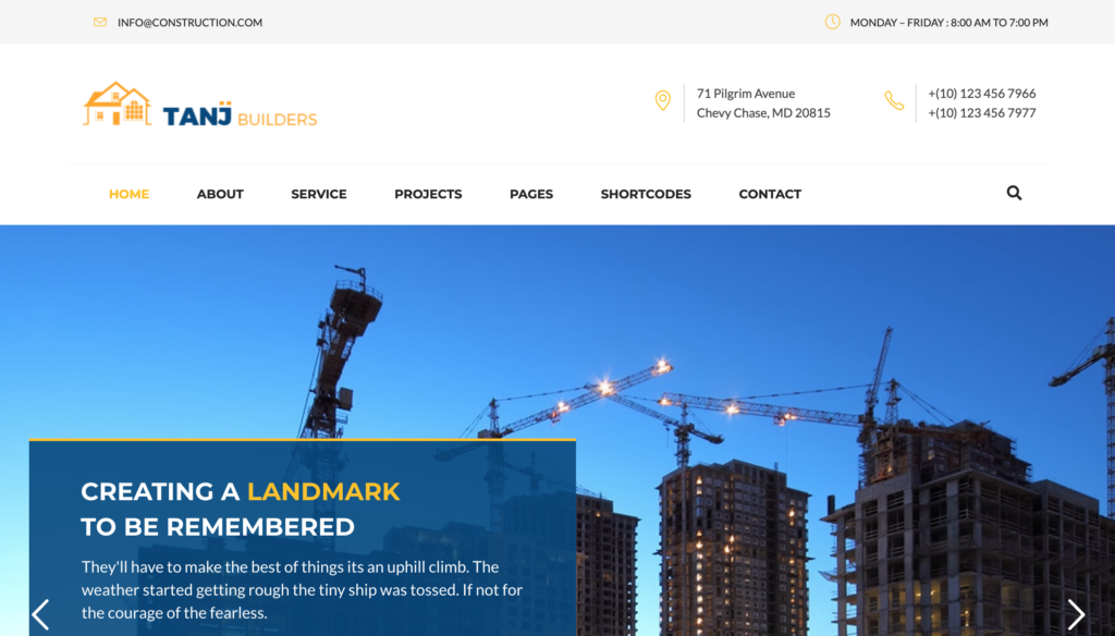 Tanj - Construction