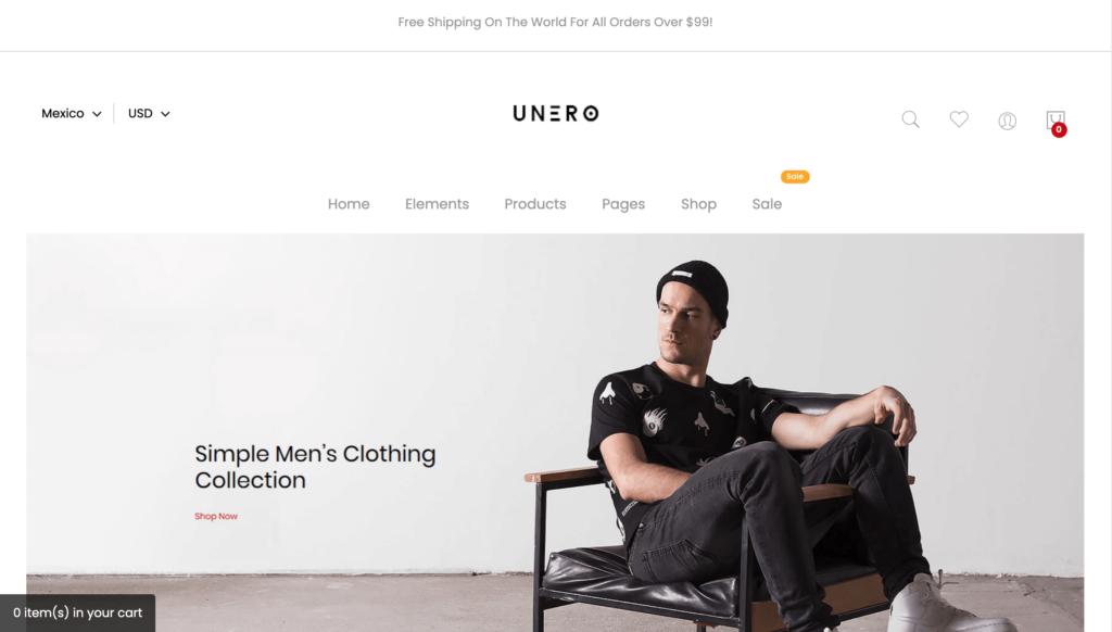 Unero – Minimalist Magento 2 and 1 Theme